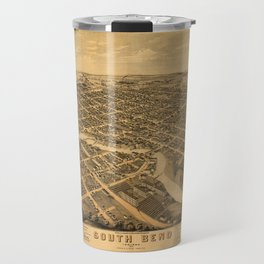 Aerial View of South Bend, Indiana (1874) Travel Mug