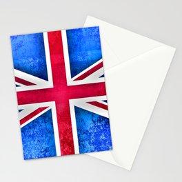 Grunge British Flag Stationery Cards