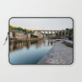 The Habour of  Dinan in France Laptop Sleeve