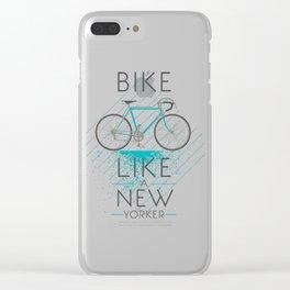 Bike like a new yorker Clear iPhone Case