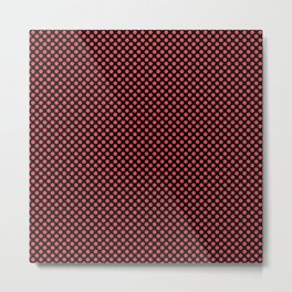 Black and Cayenne Polka Dots Metal Print
