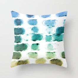 On the Beach Watercolor Painting Abstraction Throw Pillow