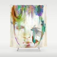 archan nair Shower Curtains featuring Organic by Archan Nair