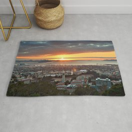 View of San Francisco Bay Area at Sunset from UC Berkeley Rug