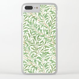 Willow Bough Printed Wallpaper, William Morris, 1887 Clear iPhone Case