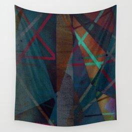 i work the dark seams Wall Tapestry