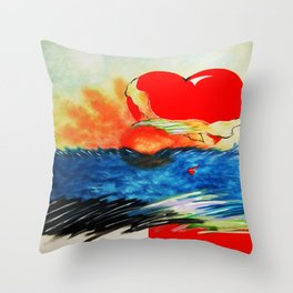 CANVAS OF THE HEART Throw Pillow