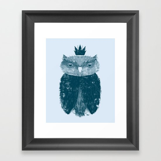 Owl King Framed Art Print