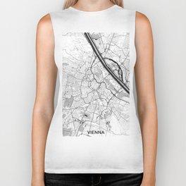 Vienna City Map Gray Biker Tank