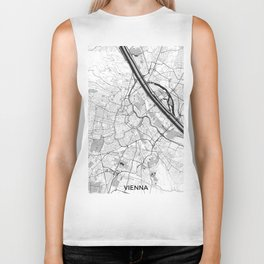 Vienna City Map Gray Biker Tank
