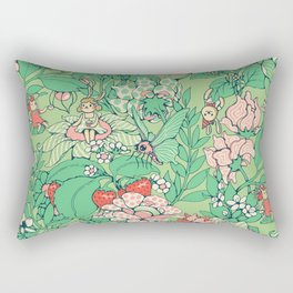 Garden party - sage tea version Rectangular Pillow