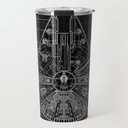 Millennium Falcon Blueprint Travel Mug
