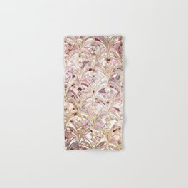 Dusty Rose and Coral Art Deco Marbling Pattern Hand & Bath Towel