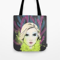 circus Tote Bags featuring circus by halorena