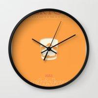 literary Wall Clocks featuring Literary Quote Poster — Rabbit, Run by John Updike by Evan Beltran