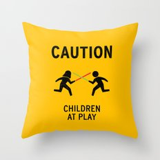 Children at Play Throw Pillow