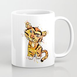 Frida Tiger Mono Brow Coffee Mug