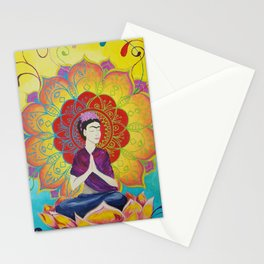 Frida Transcending Mandala and Lotus Blossom Stationery Cards