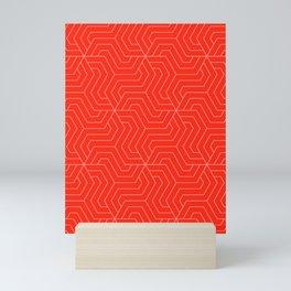 Red (RYB) - red - Modern Vector Seamless Pattern Mini Art Print
