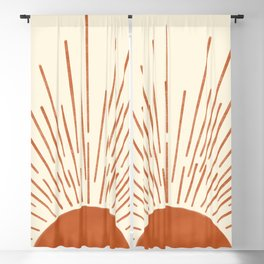 Sunset Rustic Geometric Abstract Blackout Curtain