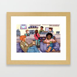 Coffee Shops and Saturdays Framed Art Print