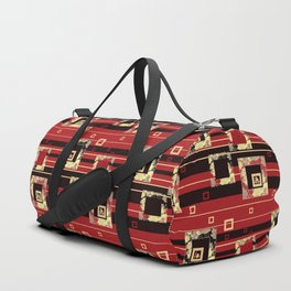 Abstraction. Red chic. Duffle Bag