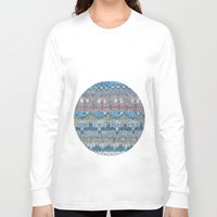knitting Long Sleeve T-shirts featuring KNITTING #4 by NADEZDA FAVA