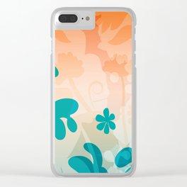 Breezy Bracken Clear iPhone Case