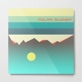 Polar summer - upside down world Metal Print