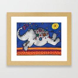 Felicity the happiest Elephant Framed Art Print