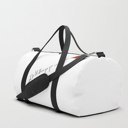 sometimes you need to let things go Duffle Bag
