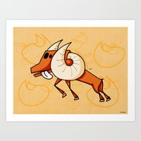 aries Art Prints featuring Aries by Giuseppe Lentini