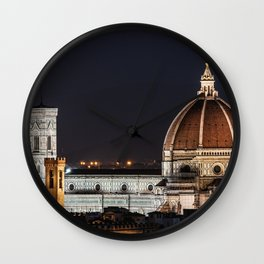 Night image of the Florence Cathedral Wall Clock