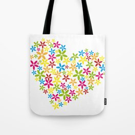 flower heart Tote Bag