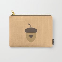 Acorn with heart T-Shirt for Women, Men and Kids Carry-All Pouch