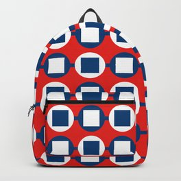 Bead Pattern - Red White & Blue Backpack