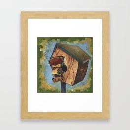 Rocking House Finch Framed Art Print