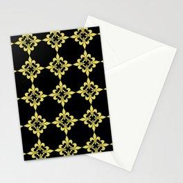 fLEUR DE LIS 4 GOLD AND BLACK Stationery Cards
