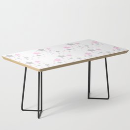 Pink Grey Gray Stars Coffee Table