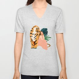 Tiger Spirit Unisex V-Neck