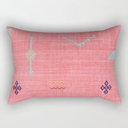 Cactus Silk Pattern in Pink Rectangular Pillow