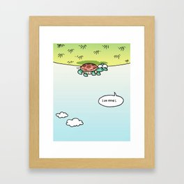 I am flying Framed Art Print
