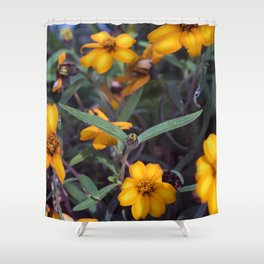 Small Orange Flowers Shower Curtain