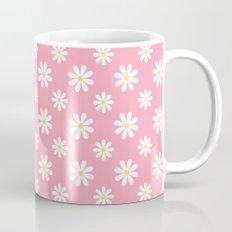 Daisies on Pink Mug