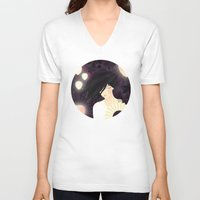 tokyo V-neck T-shirts featuring Tokyo by Jenny Lloyd Illustration