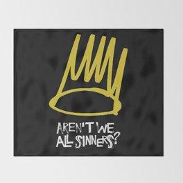 Born sinner Throw Blanket