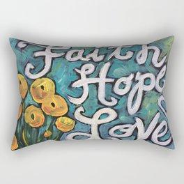 Faith, Hope and Love Rectangular Pillow