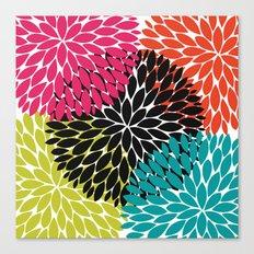 Big Tropical Flowers Canvas Print