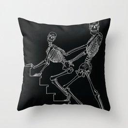 Skeleton Sex #1 Throw Pillow
