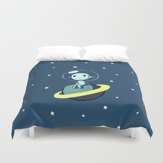 Space Alien Duvet Cover